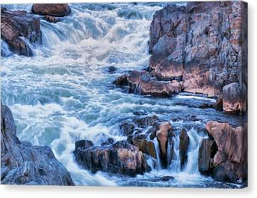 Usa, Virginia, Great Falls Park Canvas Print by Jaynes Gallery