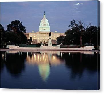 Capitol Building Canvas Print - Usa, Washington Dc, Capitol Building by Walter Bibikow