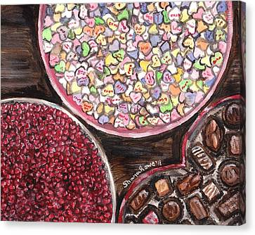 Valentines Day Candy Canvas Print by Shana Rowe Jackson