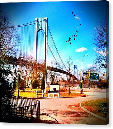 Verrazano Narrows Bridge Canvas Print by Frank Winters