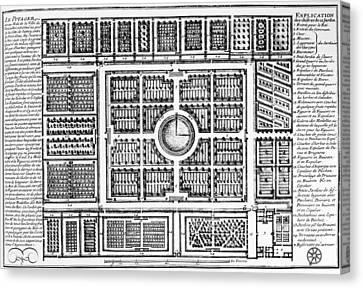 Carousel Collection Canvas Print - Versailles: Gardens, 1685 by Granger
