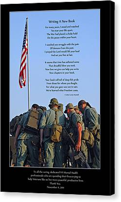 Christian Poetry Canvas Print - Veterans Remember by Carolyn Marshall