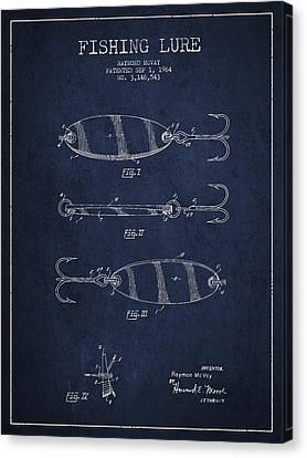 Vintage Fishing Lure Patent Drawing From 1964 Canvas Print