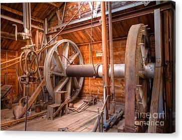 Canvas Print featuring the photograph Vintage Power by Lawrence Burry
