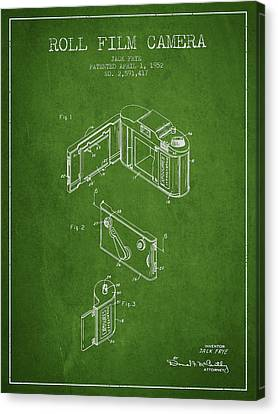 Vintage Roll Film Camera Patent From 1952 Canvas Print by Aged Pixel