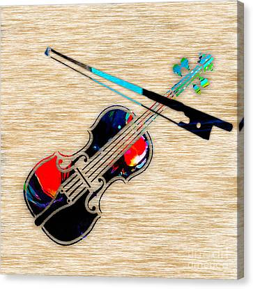 Violin Canvas Print by Marvin Blaine