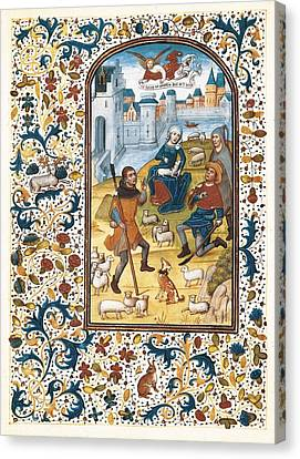 Vrelant, Willem 1410-1481. Book Canvas Print by Everett