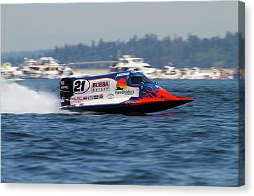 Wa, Seattle, Seafair, Formula One (f1 Canvas Print by Jamie and Judy Wild