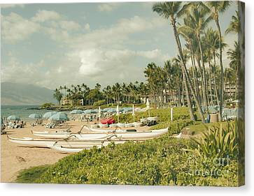 Wailea Beach Maui Hawaii Canvas Print by Sharon Mau