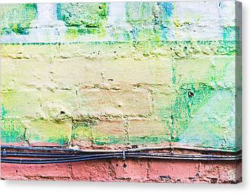 Component Canvas Print - Wall Background by Tom Gowanlock
