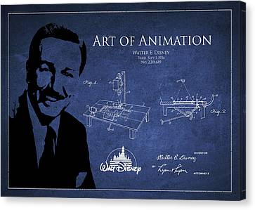 Walt Disney Patent From 1936 Canvas Print