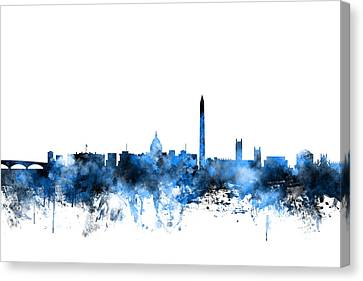 Washington Dc Skyline Canvas Print by Michael Tompsett