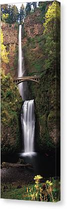 White River Scene Canvas Print - Waterfall In A Forest, Multnomah Falls by Panoramic Images