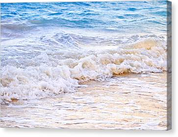 Crashing Canvas Print - Waves Breaking On Tropical Shore by Elena Elisseeva