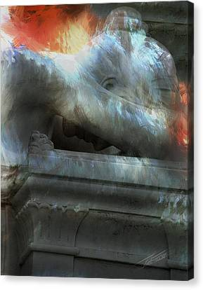 Headstones Canvas Print - Weeping Angel by Peter Piatt