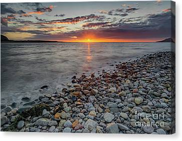 Sand Canvas Print - Welsh Sunset by Adrian Evans