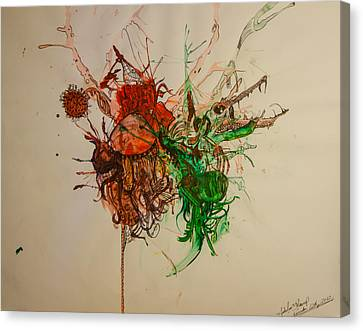 Wet Dinosaurs Canvas Print by Nickolas Kossup