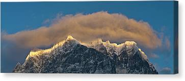Wetterstein Mountain Chain With Mt Canvas Print by Martin Zwick