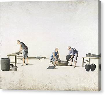 White Lead Production, 19th-century China Canvas Print