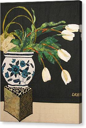 White Tulips Canvas Print by Lynda K Boardman