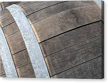 Wine Barrel Close Up Canvas Print by Brandon Bourdages