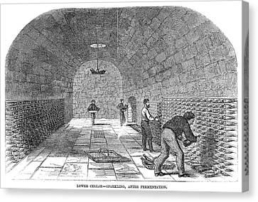 Winemaking Storage, 1866 Canvas Print by Granger