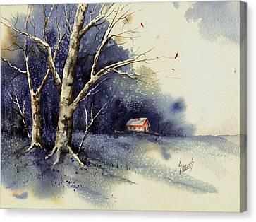 Winter Tree Canvas Print by Sam Sidders