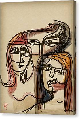 3 Women Canvas Print by Russell Pierce
