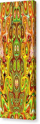 Woodcraft Ghosts Spirits Indian Native Aboriginal Masks Motif Symbol Emblem Ethnic Rituals Display H Canvas Print