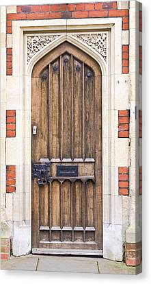 Medieval Entrance Canvas Print - Wooden Door by Tom Gowanlock