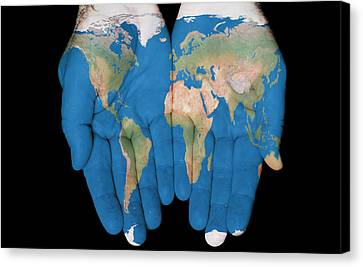 World In Our Hands Canvas Print