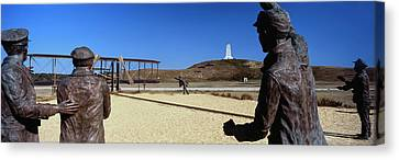 Wright Flyer Sculpture At Wright Canvas Print by Panoramic Images