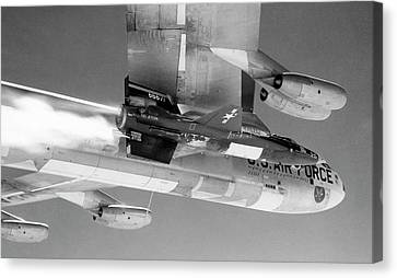 X-15 Aircraft On A Boeing B-52 Canvas Print