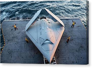 X-47b Unmanned Combat Air Vehicle Canvas Print by Us Air Force