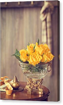 Yellow Roses Canvas Print by Amanda Elwell