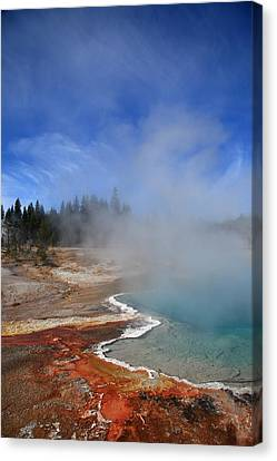 Yellowstone Park Geyser Canvas Print by Frank Romeo