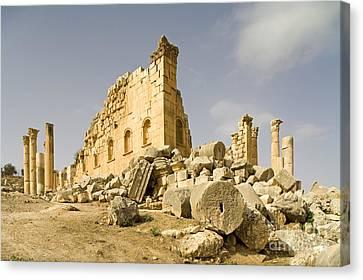 Zeus Temple, Gerasa, Jordan Canvas Print by Adam Sylvester
