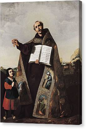 Zurbaran, Francisco De 1598-1664. Saint Canvas Print by Everett