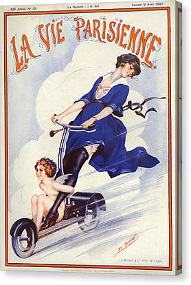 1920s France La Vie Parisienne Magazine Canvas Print