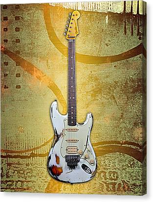Fender Stratocaster Collection Canvas Print by Marvin Blaine