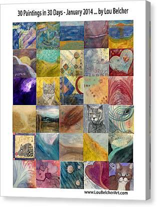 30 In 30 Poster - Jan 2014 Canvas Print by Lou Belcher