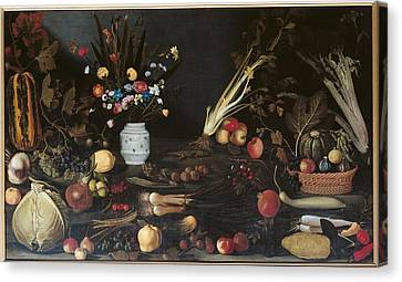 Bunch Of Grapes Canvas Print - Italy, Lazio, Rome, Borghese Gallery by Everett