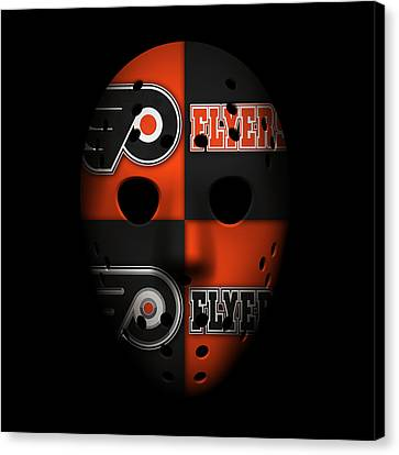 Goalie Canvas Print - Philadelphia Flyers by Joe Hamilton