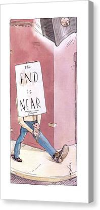 New Yorker March 17th, 2003 Canvas Print by Barry Blitt