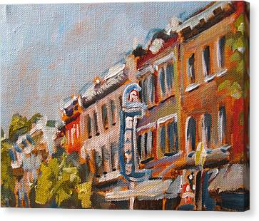 300n Block Franklin Canvas Print by Susan E Jones
