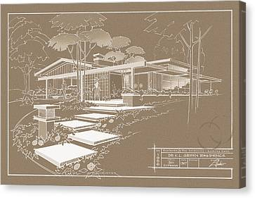 301 Cypress Drive - Sepia Canvas Print