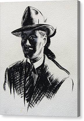 Sam Spade Canvas Print - Secret Agent Study 3 by Robert Poole