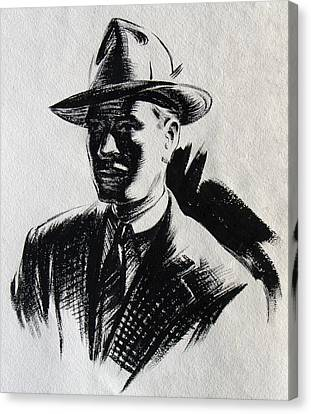 Sam Spade Canvas Print - Secret Agent Study 2 by Robert Poole