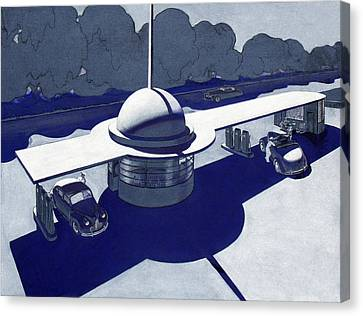 Atomic Canvas Print - Roadside Of Tomorrow by Robert Poole