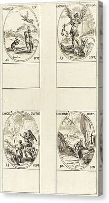 Guardian Angel Canvas Print - Jacques Callot French, 1592 - 1635 by Quint Lox